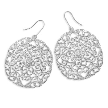 West Coast Jewelry Silver Plated Cut Out Heart Design Fashion Earrings at Sears.com