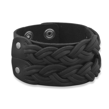 West Coast Jewelry 8 - 8.5 Inch Leather Fashion Bracelet with Double Braid Design at Sears.com